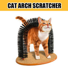 Cat Arch Scratcher Self Groomer Toy Bristle Massager Catnip Play Soft Bristles