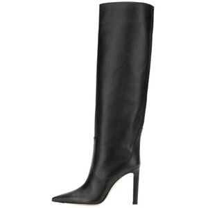 Women's High Heels Pointed Knee High Boots Slip On Boot Stiletto Shoes Nightclub