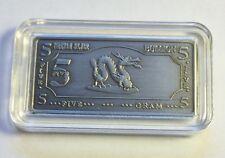 """5 Gram Tibetan Silver """"Year Of The Dragon"""" Ingot"""