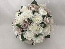 Wedding bouquets flowers rose Blush pink ivory posy bride bridesmaids bouquets