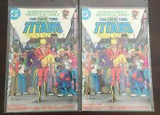 VINTAGE LOT OF 2 RARE DC COMICS THE NEW TEEN TITANS KEEBLER EXCLUSIVE COMIC BOOK