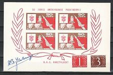 Belgium, 1960 Boy Scouts Rocket Mail Presentation Card signed by DR. Bruijn.