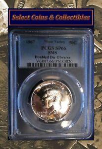1967 SMS Kennedy Half Dollar PCGS SP66 SMS DDO Variety Silver Coin No-270