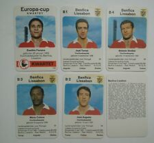 BENFICA LISSABON- Set of 6  - 1970 Dutch Europa-cup Kwartet game card
