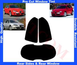 Alfa Romeo 147 3D 2001-2010 Pre-Cut Window Tint 5%-50% Rear Window & Rear Sides