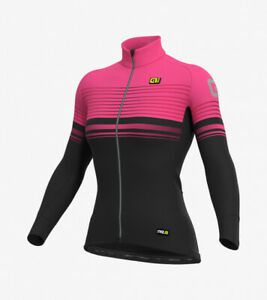 Ale Cycling Women Winter Jersey Slide Micro GRAPHICS PRR| Black-Fluo Pink Size S