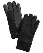 UGG Men's Knit Leather-Patch Tech Gloves Size S/M