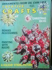 Creative Crafts Dec 1972 #28 Vintage Retro DIY Etsy Ideas Out Of Print Rare!