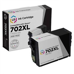 LD Remanufactured Epson 702XL T702XL120 High Yield Black Ink Cartridge