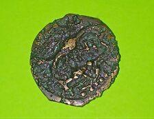 Carnutes 100 BC Celtic Coin of Northwest Gaul flying eagles cross pellets France