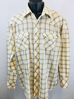 Double S Pearl Snap Western Shirt Men's Size 16.5/34