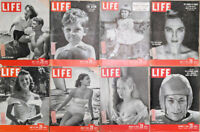 Lot of 16 1949 LIFE Mag-Noring Debutante Churchill Paris Styles Baby FDR Sailing