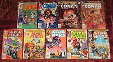 MARVEL Comic Book Magazine Lot of 12 - STAR WARS, ALPHA FLIGHT, CONAN, THE THING
