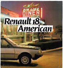 RENAULT 18 American Limited Edition 1983 UK Opuscolo Vendite sul mercato