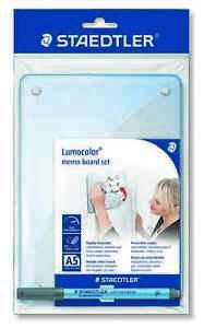 STAEDTLER Lumocolor Dry-Wipe Flexible Memo Board Set A5 with Correctable Pen