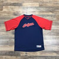 Cleveland Indians Retro Jersey Style Chief Wahoo Logo MLB T-Shirt Men's Medium