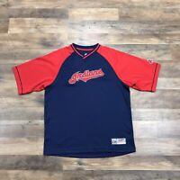 Cleveland Indians Retro Jersey Style Chief Wahoo Logo MLB T-Shirt Men's Medium