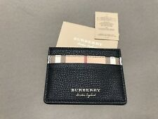 Burberry Men's ID Wallet Card Case Haymarket Check / Black NEW!