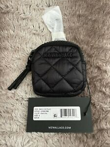 NWT - MZ Wallace Small Metro Link Pouch ~ Black *Perfect Size For AirPods*