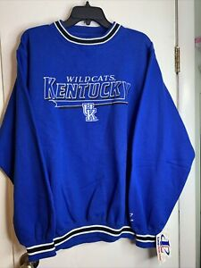 VTG NEW Kentucky Wildcats Knit Sweatshirt L Logo Athletic Embroidered
