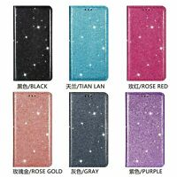 For Samsung Galaxy A71 A51 A21S 5G Glitter Flip Stand Leather Wallet Case Cover