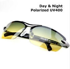 Hot Day Night Vision Men's Driving Polarized Sunglasses Pilot Mirror Sun Glasses 289SI Silver
