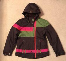 EUC! Girls Obermeyer Brown/Green/Pink Ski Coat Sz 16 Barely Worn!