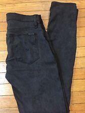 Hudson Jeans SZ 26 Nico Midrise Super Skinny Black Gray Snakeskin Print