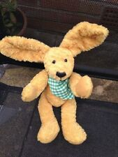 """Sunkid Golden Rabbit Collectable Soft Hug Toy With Scarf 12"""" Jointed limbs Rare"""