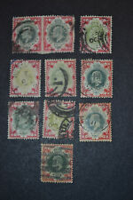 GB 1902 lot de 10 timbres de 1 SHILLING