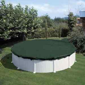 Summer Fun Copertura Invernale per Piscina 460 cm PVC Verde Telo Copripiscina