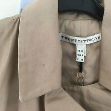 TWENTY8TWELVE S MILLER  Beige Cotton Belted Trench Mac Jacket Coat UK10 BNWT