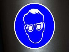 1 x Aufkleber Achtung Schutzbrille Pflicht Brille Gefahr Arbeit Schutzbrillen