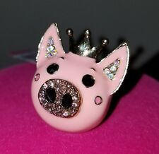 Betsey Johnson Princess Pig Stretch Ring NWT
