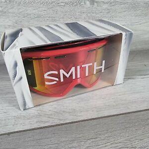 Smith Range Red Sol-X Mirror Snowboard/Ski Goggles Large Fog-X Anti Fog New Box