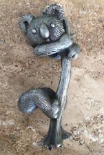 Pewter Koala Bear Spoontiques Tree Limb Figurine Sculpture Art 2 1/2�