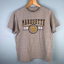 Marquette University T-shirt Adult Medium Gray 100% Cotton