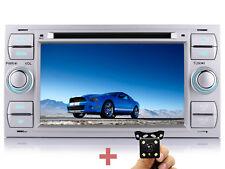 "Per Ford C-Max S-Max Kuga 7"" Autoradio NAVI AUX GPS DVD Telecamera Posteriore+"