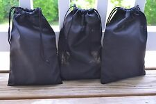 12 x 18 Inches Double Drawstring Bag. Black Color High Quality Bags. - 100