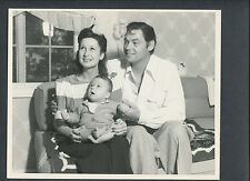 JOHNNY WEISSMULLER + WIFE BERYL + BABY SON JOHN JR. - EARLY 1940s - TARZAN STAR