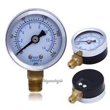 """COMPRESSORE d'aria 1/8""""NPT manometro pressione idraulica 1.5"""" faccia 0-200 PSI 0-14 Bar Quadrante"""