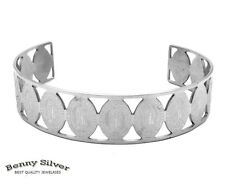 Stainless Steel Our Lady of Guadalupe Cuff Bangle Bracelet SMALL Teens Size