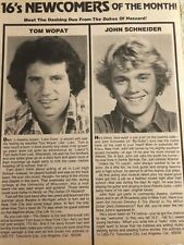 The Dukes of Hazzard, John Schneider, Tom Wopat, Full Page Vintage Clipping