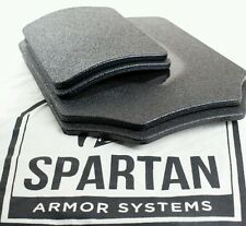 """AR500 Spartan Body Armor Level III Base Coat Front and Back w 6""""x8"""" Side Plates"""