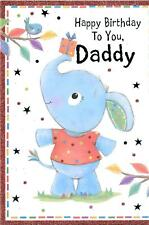 CUTE BIRTHDAY CARD FOR DADDY - BLUE ELEPHANT