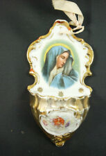 acquasantierA antica porcellana MARCHIATA sacra devozionale religione