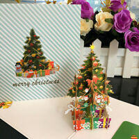 Handmade 3D Pop Up Greeting Cards Merry Christmas Festival Card Holiday Gift