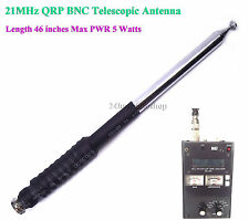21MHz Ham Amateur Radio 15 Meter Band HF BNC QRP Telescopic Antenna