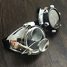 Steampunk goggles with Ocular biker goth Cosplay Custome Halloween party