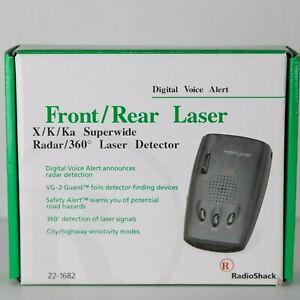 Radio Shack Front/Rear Laser X/K/KA Superwide Radar Detector - New in Box